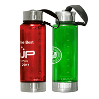 22 oz. Stainless Steel & Plastic Bottle BPA Free / Includes Carabiner Clip